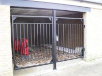 powdercoated-bike-shed-gates